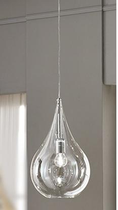 Immagine di Lampada A Sospensione In Vetro Soffiato Trasparente -gigi12531ltrasp-
