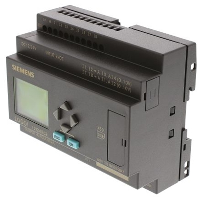 Picture of Modulo Logico Siemens 6ed1052-1md00-0ba7, 8 Ingressi Analogici/digitali, 4 Uscite Digitali/relè, 12 ? 24 V C.c.