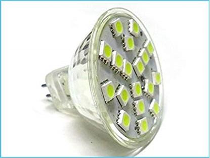 Picture of Lampada Led Dicroica Mr16 Gu5.3 4w 24 Smd 5050 12v Dc/ac Bianco Freddo