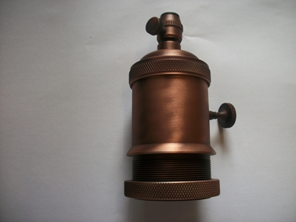 Immagine di Portalampada E27 Color Bronzo Satinato