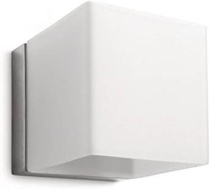 Immagine di Homroo Cubo Da Parete In Vetro Satinato Bianco -33178/17/16-