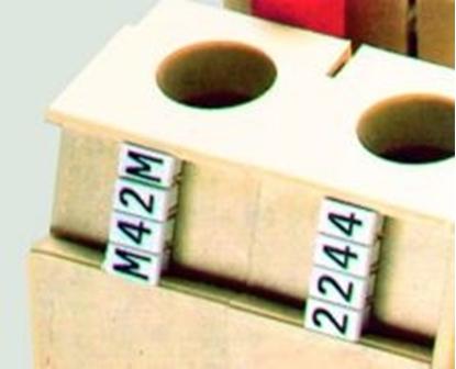 Immagine di Numerazione Manuale Per Morsetti Cabur Cartellini 1-2-3-4-5-6-7-8-9  -csc09-