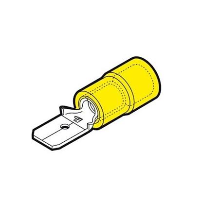 Immagine di Connettore Innesto Maschio Sezione 4-6 Giallo -gfm608-