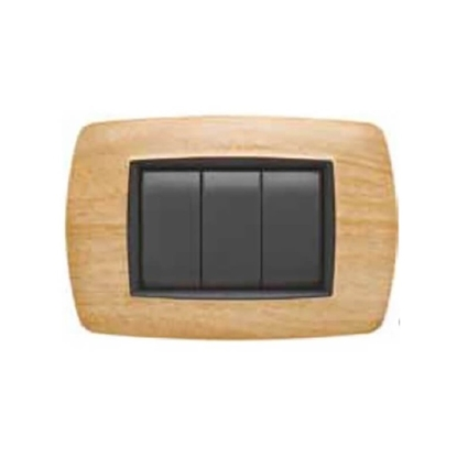 Picture of Placca Life 3 Posti Legno Betulla -2983bt-