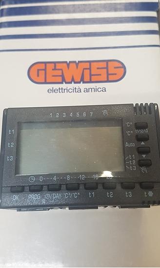 Immagine di Cronotermostato Elettronico System Black Estate/inverno 3 Moduli -21807-