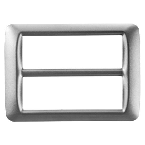 Picture of Placca Top System In Tecnopolimero 12 Posti Titanio Metallizzato -22608-