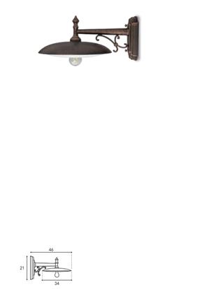 Immagine di Applique A Parete In Alluminio Verniciato Nero Ramato -910.6-