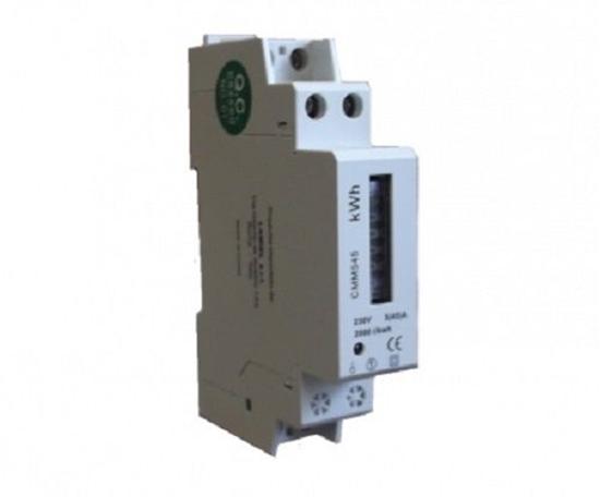 Immagine di Contatore Monofase Di Energia Attiva Guida Din 1 Modulo - Cmm545-