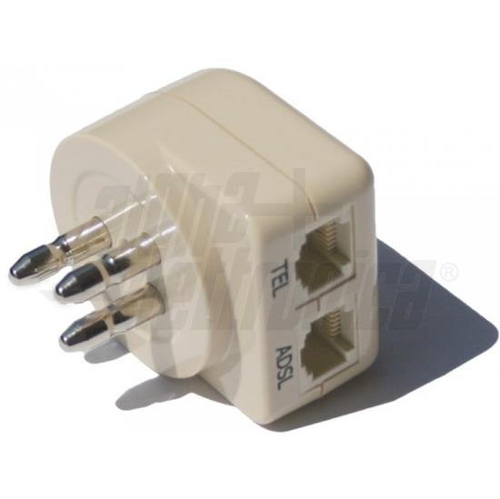 Picture of Filtro Adsl Da Spina 3 Poli A 2 Prese Modulare 6p2c  -94-970/2-