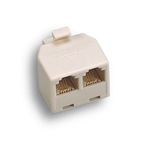 Picture of Adattatore Modulare Da Spina Plug 6/4 C A 2 Prese 6/4  -22350-