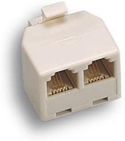 Immagine di Adattatore Telefonico Spina Plug 8p 2 Prese 8  -22352-