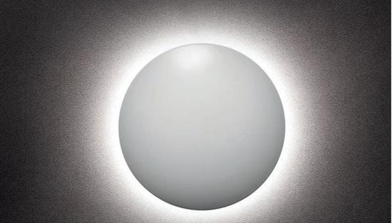 Immagine di Umbra Applique In Alluminio Pressoffuso Verniciato A Polveri Bianco Opaco E Diffusore In Acrilico Satinato - 01-1331-
