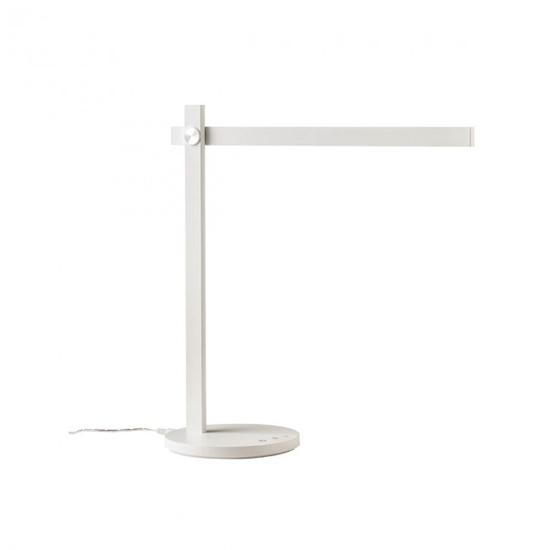 Immagine di Omeo Lampada Da Tavolo Led Per Interni In Alluminio Verniciato Bianco Opaco -01-2212-