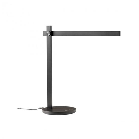Immagine di Omeo Lampada Da Tavolo Led Per Interni In Alluminio Verniciato Nero Opaco -01-2213-