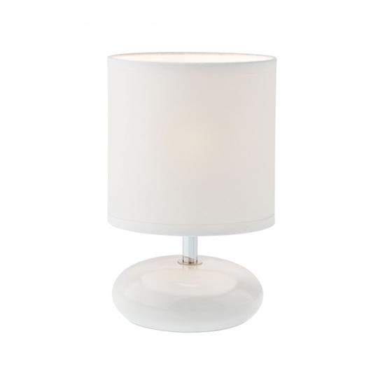 Immagine di Five Lampada Da Tavolo Per Interni Con Corpo In Ceramica Smaltata E Paralume In Tessuto -01-854-