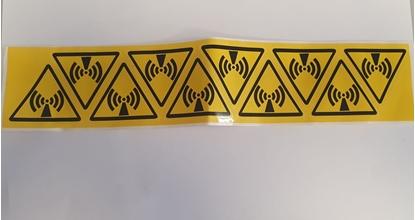 Picture of Minipitogramma 10 Adesivi Logo Radiazione -mip6650-
