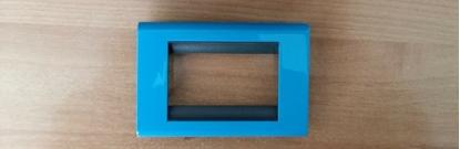 Picture of  Placca Living Classic Metallo 3 Moduli Blu Manganese -4713bm--