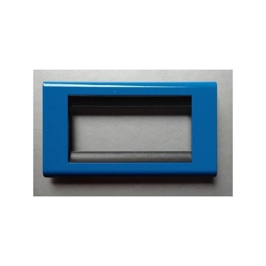 Immagine di Placca Living Classic 1 Modulo + 1 Presa Schuko Blu -4750bc-