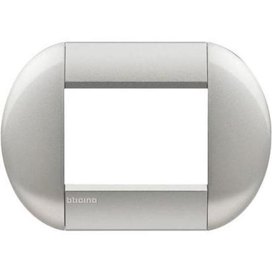 Immagine di Placca Living Light 3 Moduli Tech Tonda -lnb4803te-