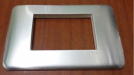 Immagine di Placca 3 Moduli Alluminio  -680563-
