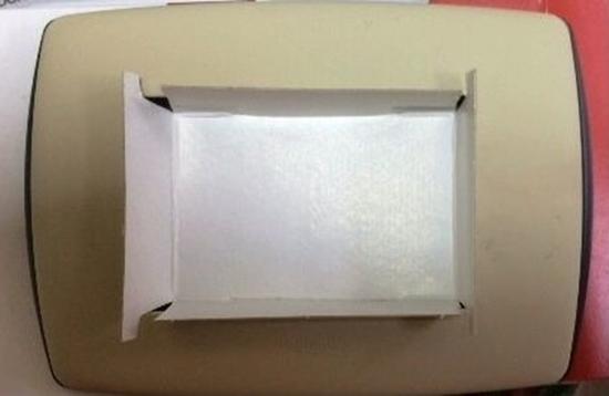 Picture of Placca Vela 3 Moduli Tonda Stone -682508-