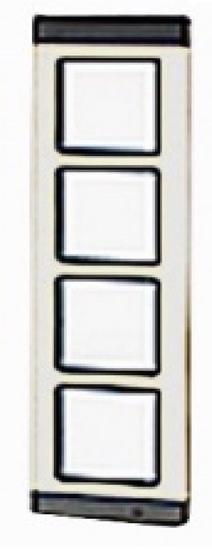Immagine di Placca Serie Tm Alluminio 4 Moduli  -tmp4ag60060400-