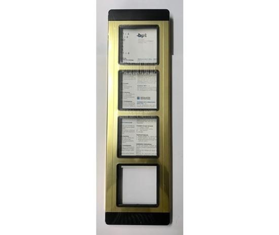 Immagine di Placca Serie Tm Alluminio Oro 4 Moduli  -tmp4au60060800-