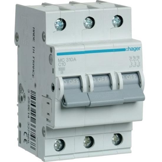Immagine di Interruttore Automatico Magnetotermico 3 Poli 10a -mc310a-