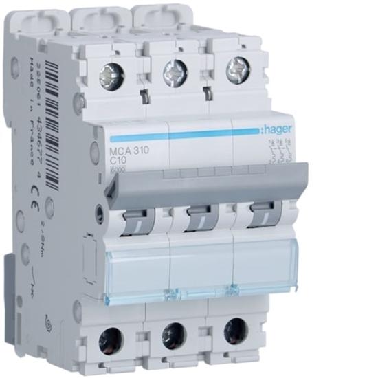Immagine di Interruttore Automatico Magnetotermico 3 Poli 10a -mca310-