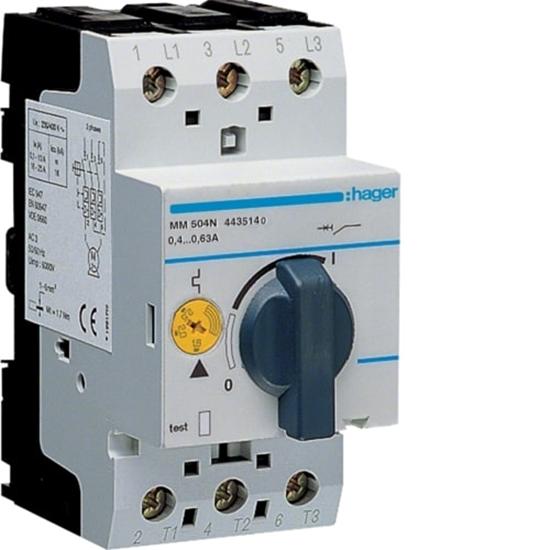 Immagine di Interruttore Salvamotore Magnetotermico 3 Poli 2.5 Moduli 0.4-0.63 A -mm504n-