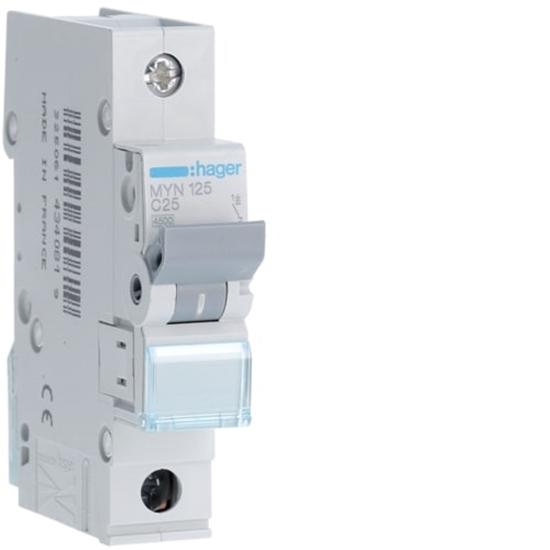 Immagine di Interruttore Automatico Magnetotermico 1 Polo 25a -myn125-