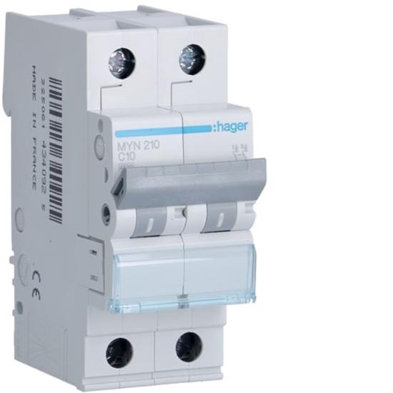 Immagine di Interruttore Automatico Magnetotermico 2 Poli 10a -myn210-