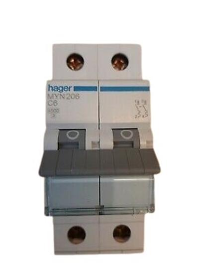 Immagine di Interruttore Automatico Magnetotermico 2 Poli 6a -myn206-