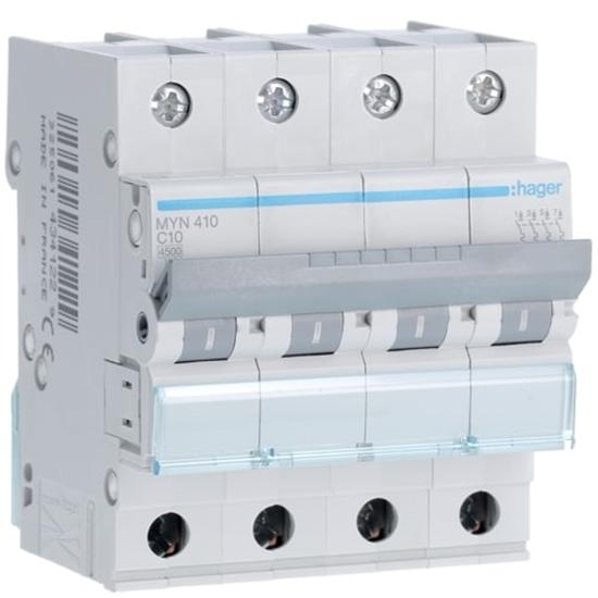 Immagine di Interruttore Automatico Magnetotermico 4 Poli 10a -myn410-
