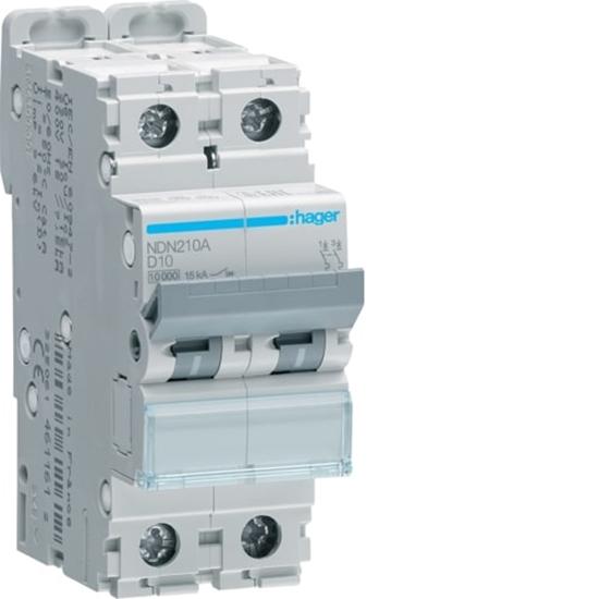 Immagine di Interruttore Automatico Magnetotermico 2  Poli 10a -ndn210a-