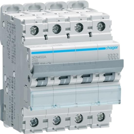 Immagine di Interruttore Automatico Magnetotermico 4 Poli 50a -nd450a-