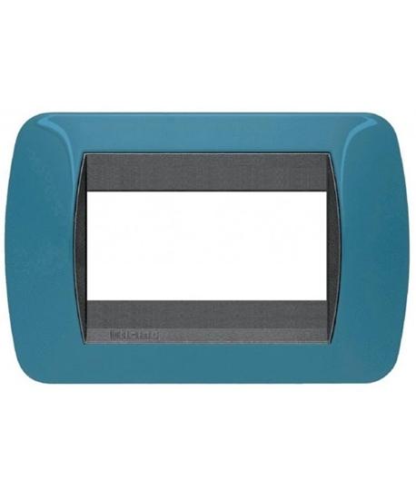 Picture of Placca Living International Di Transizione 3 Moduli Blu Metro' -l4863bu-