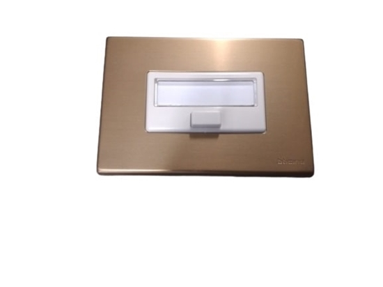Picture of Placca Portanome Magic + Pulsante Bronzo -5018b-