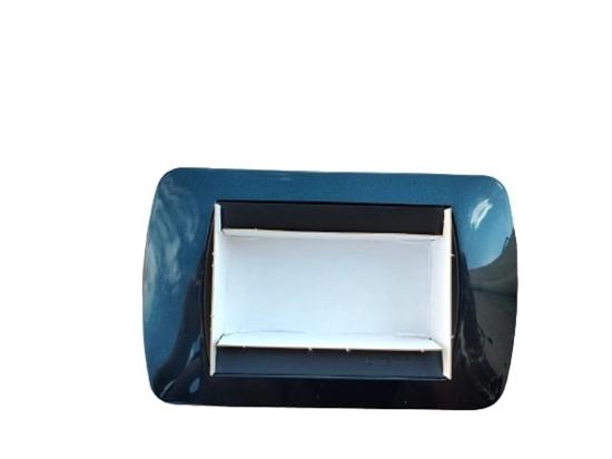 Immagine di Placca Living International Di Transizione 3 Moduli Blu -l4863bt-