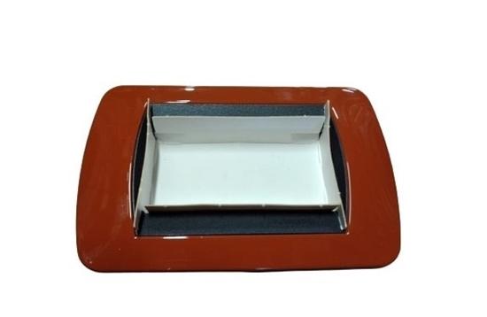 Immagine di Placca Living International Di Transizione 3 Moduli Terracotta -l4863tr-