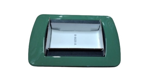 Picture of Placca Living International Di Transizione 3 Moduli Verde Chiaro -l4863vr-