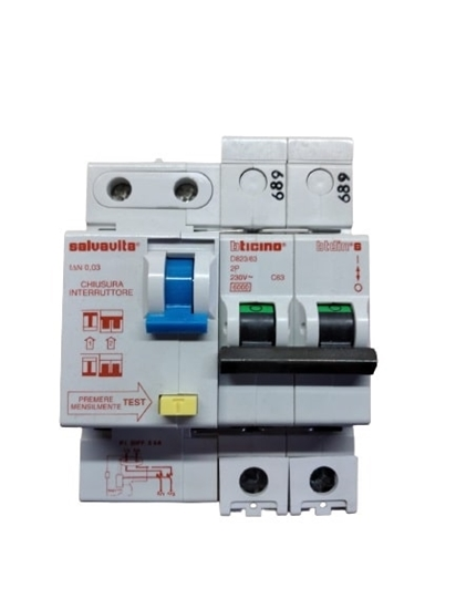 Picture of Differenziale Magnetotermico 2p 63a  -d82363-