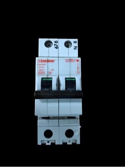 Immagine di Interruttore Magnetotermico 1p+n 6a -e81n6-