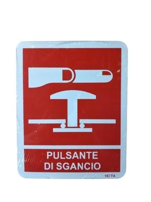 """Picture of Cartello Antincendio 12x15 """"pulsante Di Sgancio"""" -1911464-"""